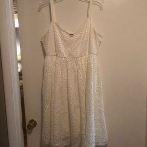 Off white/ivory eyelet lace dress